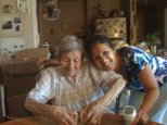 My aunt Ramona & my cousin Evelyn